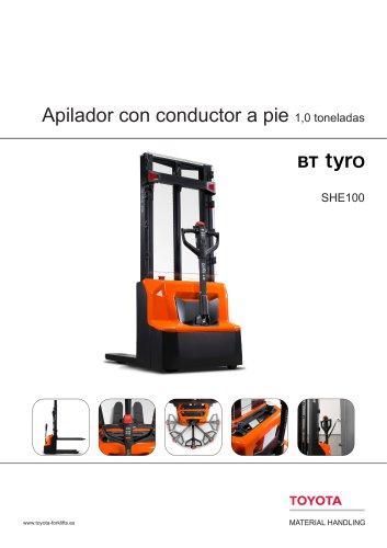 BT Tyro SHE 100 - Apilador con conductor a pie 1,0 toneladas
