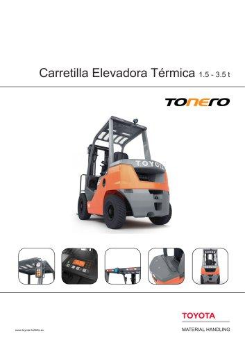 Tonero - Carretilla Elevadora Térmica 1.5 - 3.5 t