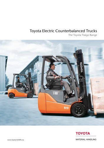Toyota Electric Counterbalanced Trucks The Toyota Traigo Range