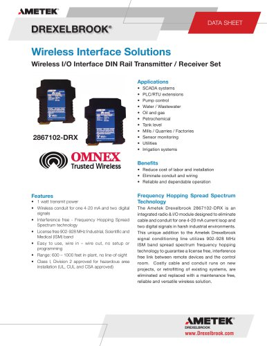 2867102-DRX Series, DIN RailWireless