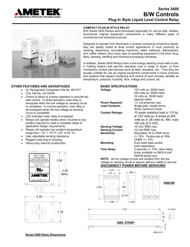5400 Series, Solid State Relays