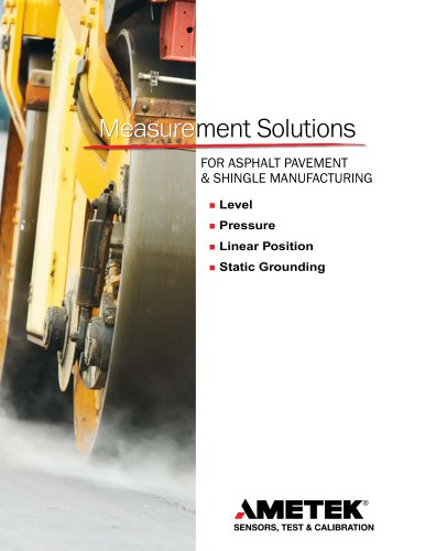 Measurement Solutions for Asphalt Pavement and Shingles Manufacturing