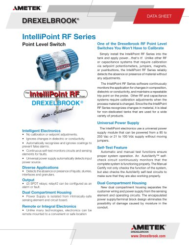 RXT Series, IntelliPoint, Line Powered