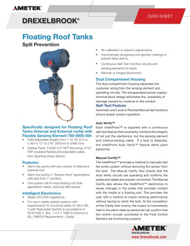 SXRLTX Series, Floating Roof Tanks