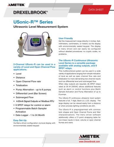 Ultrasonic Level Measurement USonic-R Series