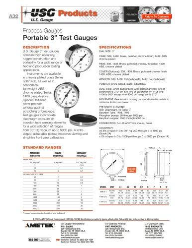 508/1408 Series Portable Test Gauges