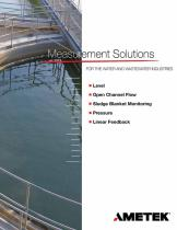 Measurement Solutions for Water and Wastewater Industries