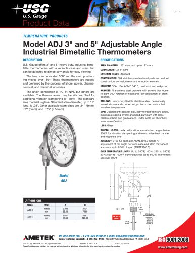 Model-ADJ-3-inch-and-5-inch-Adjustable-Angle-Industrial-Bimetallic-Thermometers