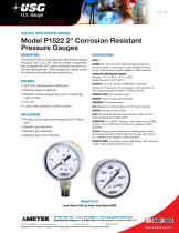 "Model P1522 2"" Corrosion Resistant Pressure Gauges"