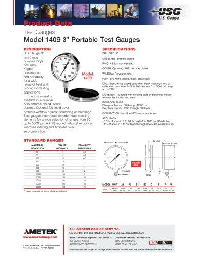 Model 1409 3in Portable Test Gauges