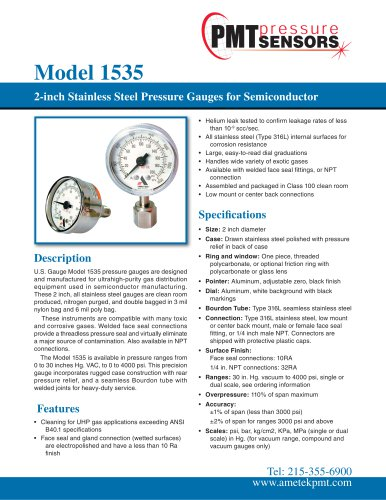 Model 1535 Pressure Gauge for the Semiconductor