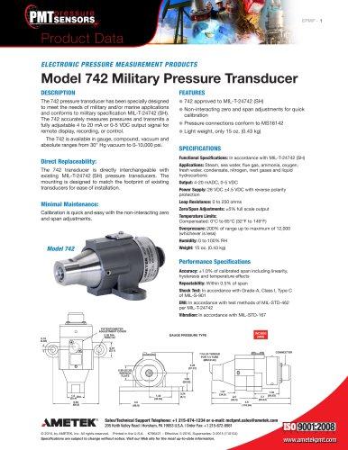 Model 742 Military Pressure Transducer