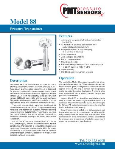 Model 88 Pressure Transmitter
