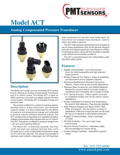 Model ACT Analog Compensated Pressure Transducer