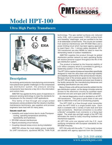 Model HPT-100