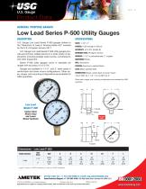 P-500 Series Low Lead and General Utility Gauges