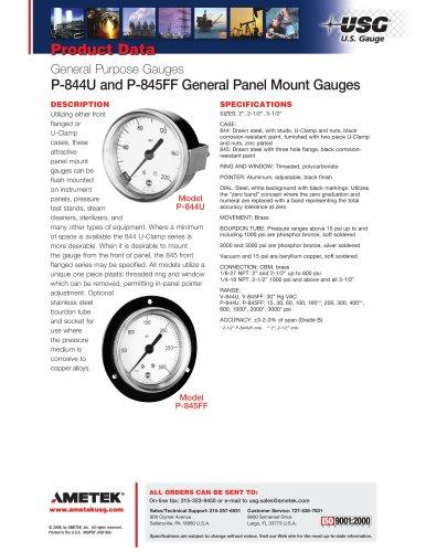 P-844U and P-845FF General Panel Mount Gauges 2008