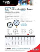 Series P-500 Low Cost Utility Gauges