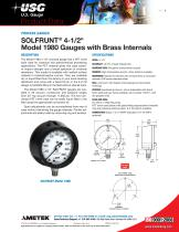 SOLFRUNT® 4-1/2? Model 1980 Gauges with Brass Internals