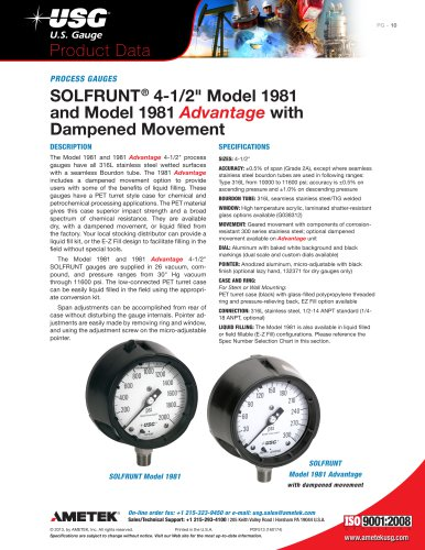 """SOLFRUNT® 4-1/2"""" Model 1981 and Model 1981 Advantage with Dampened Movement"""