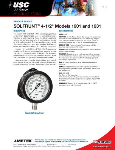"""SOLFRUNT® 4-1/2"""" Models 1901 and 1931"""