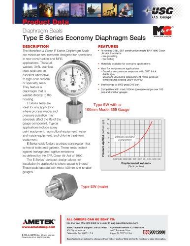 Type E Series Economy Diaphragm Seals
