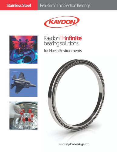 Kaydon stainless steel thin section bearings for harsh environments