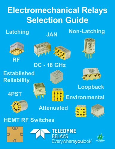 Electronical relays selection guide