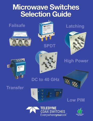 Microwave switches selection guide