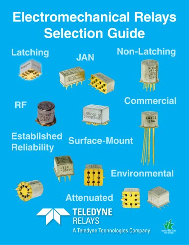 Teledyne Relays - Electromechanical Relays Selection Guide