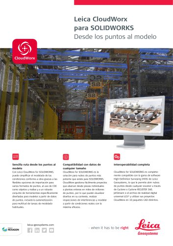 Leica CloudWorx for SOLIDWORKS Data Sheet