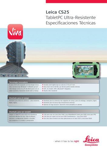 Leica CS25 TabletPC Ultra-Resistente Especificaciones Técnicas
