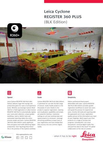Leica Cyclone REGISTER 360 (BLK Edition) Flyer