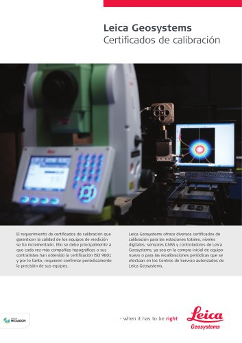 Leica Geosystems Calibration Certificate