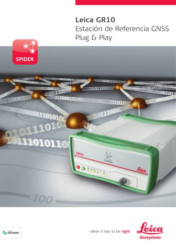 Leica GR10 Estación de Referencia GNSS Plug & Play