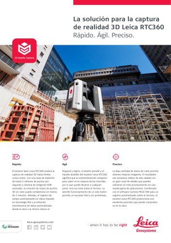 Leica RTC360 3D Reality Capture Solution Data Sheet