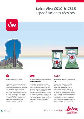 Leica Viva CS10 & CS15 Data Sheet