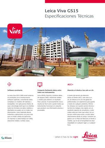 Leica Viva GS15 Data Sheet