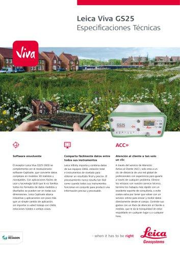 Leica Viva GS25 Data Sheet