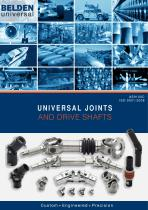 UNIVERSAL JOINTS AND DRIVE SHAFTS