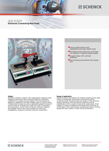 400 MBPP Electronic Connecting-Rod Scale