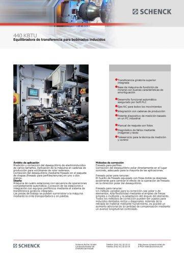 440 KBTU Equilibradora de transferencia para bobinados inducidos