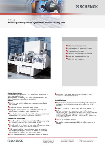 EEJH Balancing and Diagnostics System for Complete Cooling Fans