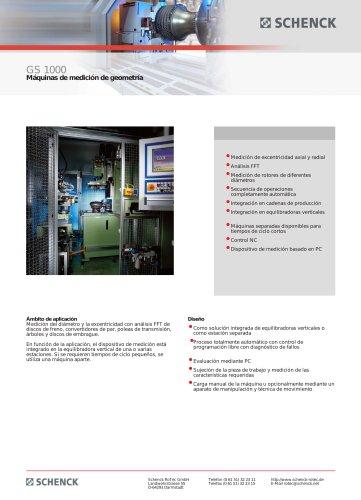 GS 1000 Máquinas de medición de geometría