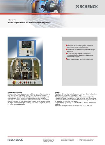 MBBS Balancing Machine for Turbocharger Impellers