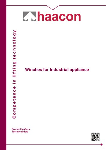 Winches for Industrial appliance