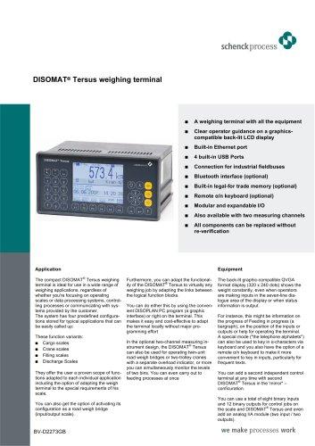 DISOMAT® Tersus weighing terminal