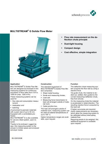 MULTISTREAM® G - Solid Flow Meter