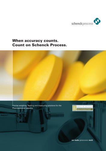 Precise weighing, feeding and measuring solutions for the Pharmaceutical Industry