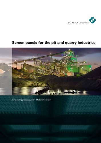 Screen panels for the pit and quarry industries